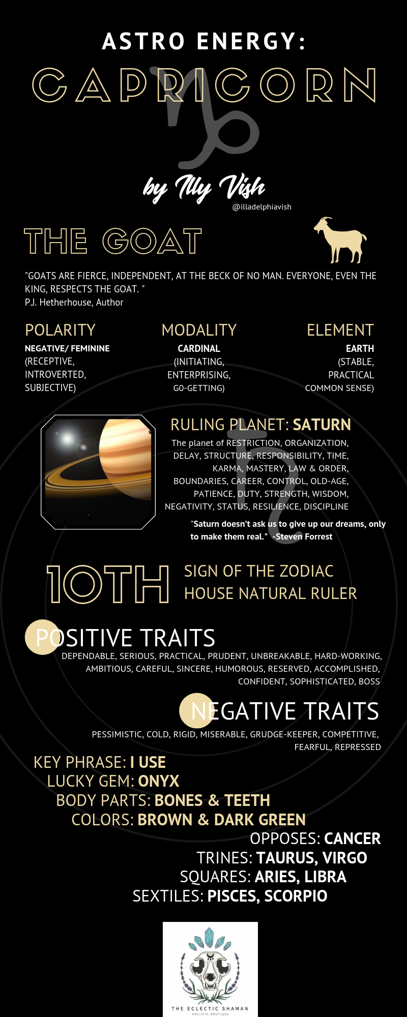 CAPRICORN ENERGY INFOGRAPHIC – Spiritual Gangsta Certified